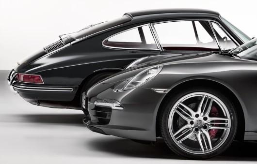 Porsche 911 Carrera 4S Coupé und Porsche 911 2.0 Coupé (Baujahr 1964)