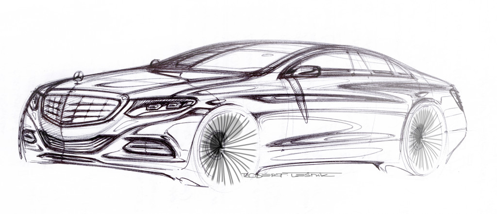 S klasse 2013 erste offizielle skizze for Mercedes plan