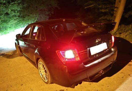 Subaru WRX heck nacht