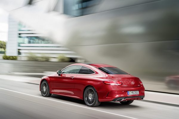 Mercedes-Benz C-Coupe schräghinten