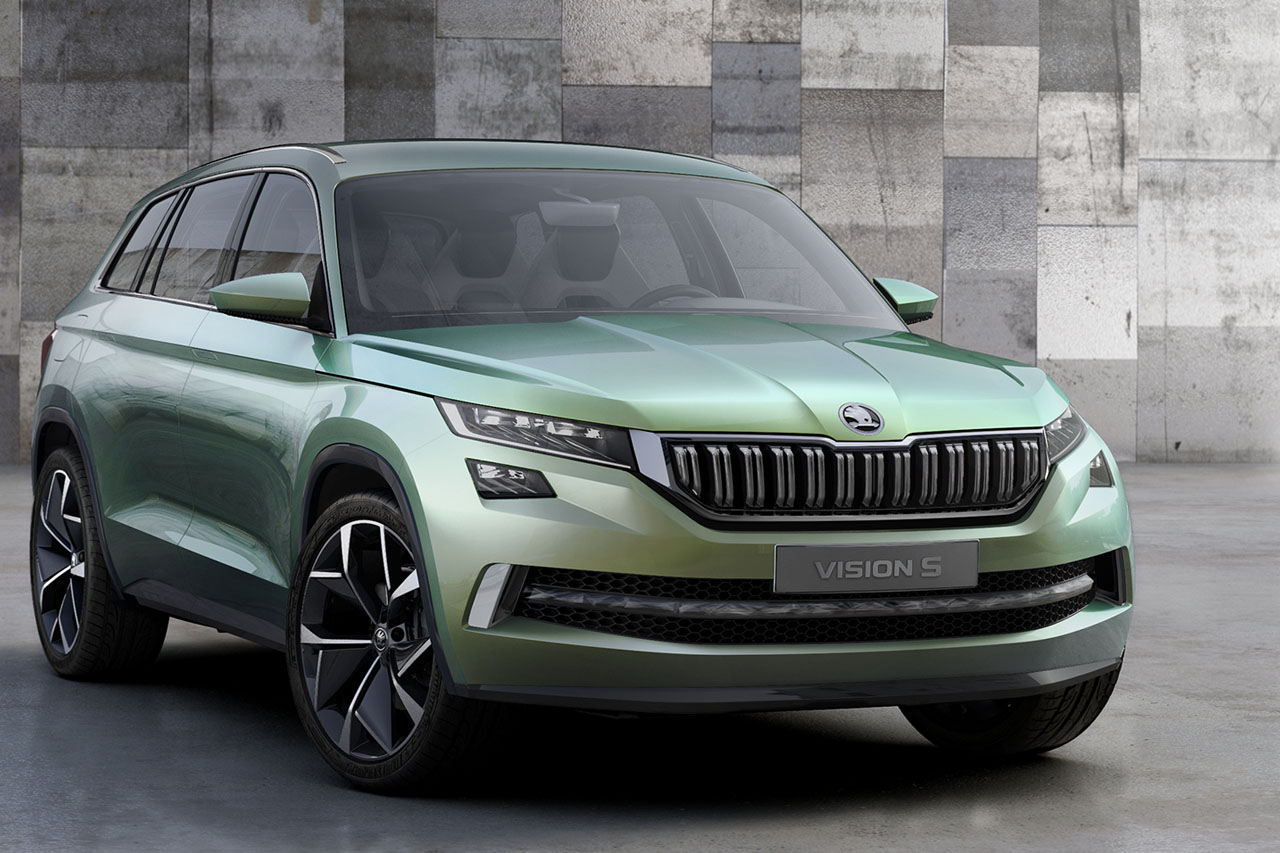 skoda suv vision s der neue wird ein hybrid. Black Bedroom Furniture Sets. Home Design Ideas