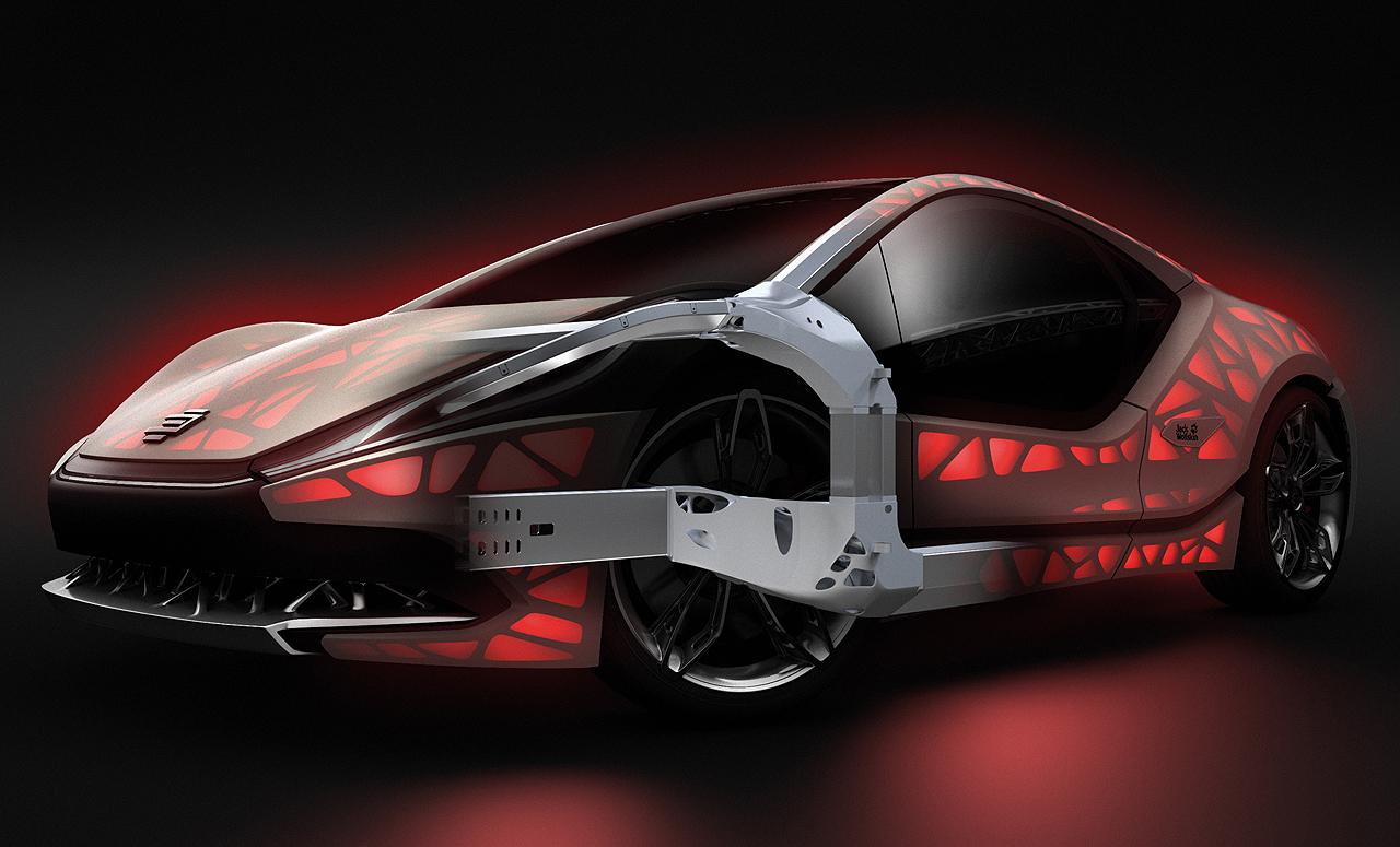 NewCarz EDAG Concept Car Light Cocoon Modell