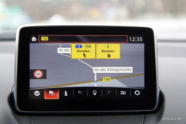 Mazda CX-3 Navigationssystem