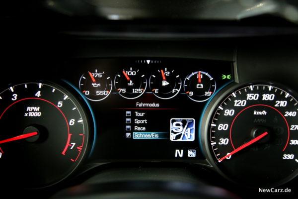 Chevrolet Camaro Cabriolet Schee/Eis Modus