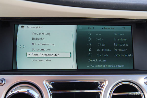 Rolls-Royce Dawn Touchscreen