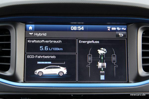 Hyundai IONIQ Hybrid Touchscreen