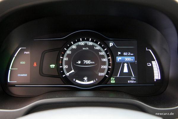 Hyundai IONIQ Hybrid Tacho