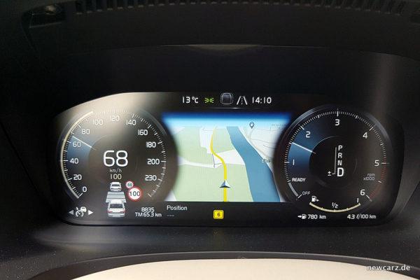 Volvo S90 Verkehrszeichenerkennung
