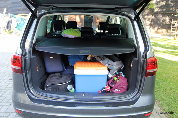 VW Sharan Gepäckraum