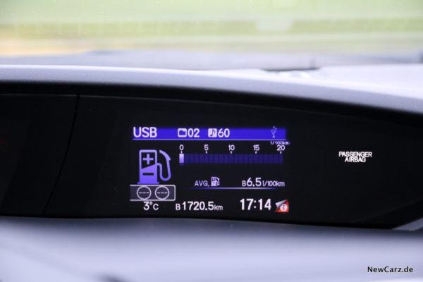Honda Civic Sport Verbrauch
