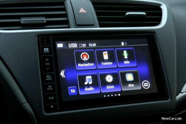 Honda Civic Sport Touchscreen