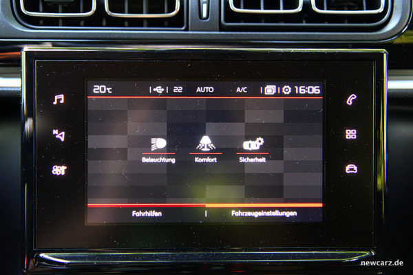 Citroen C3 2017 Touchscreenmenü