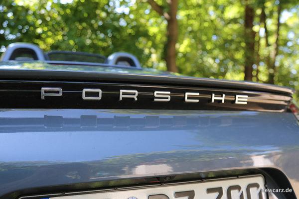 Porsche 718 Boxster S Schriftzug Heck
