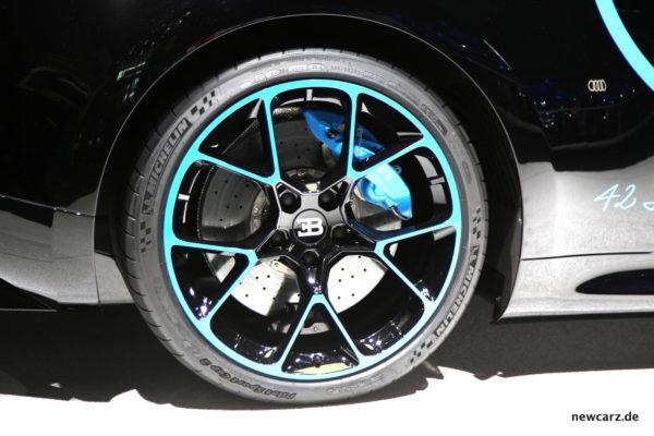 Bugatti Chiron Reifen Felge