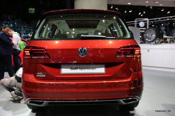Volkswagen-Golf Sportsvan Heckansicht