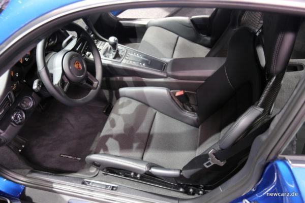Porsche GT3 mit Touring Paket Innenraum
