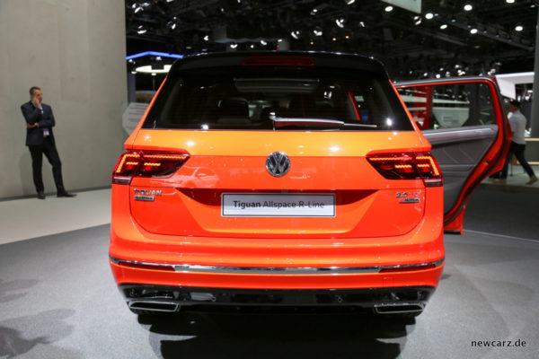 VW Tiguan Allspace Heckansicht