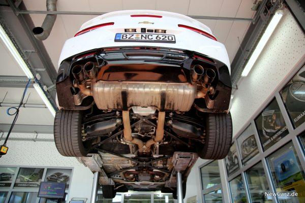 Chevrolet Camaro Cabrio Unterboden