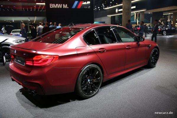 BMW M5 Heck Seite