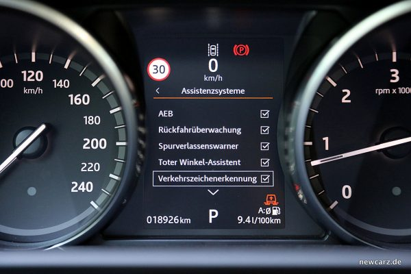 Land Rover Discovery 5 Kombiinstrument