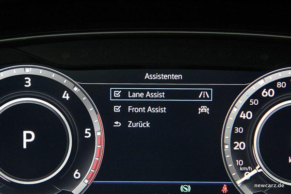 VW Golf Alltrack Variant Assistenzsysteme