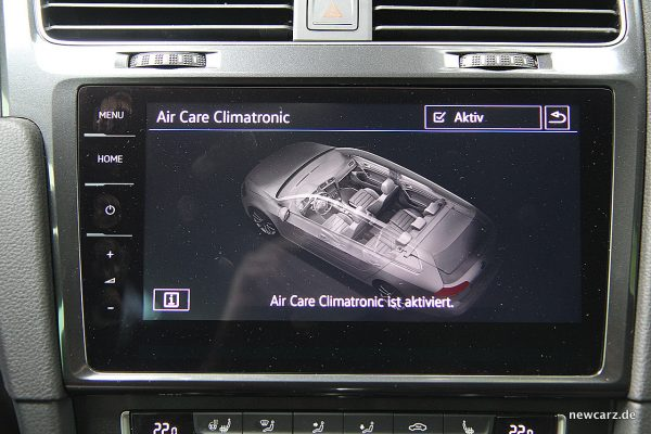 VW Golf Alltrack Variant Touchscreen Glas