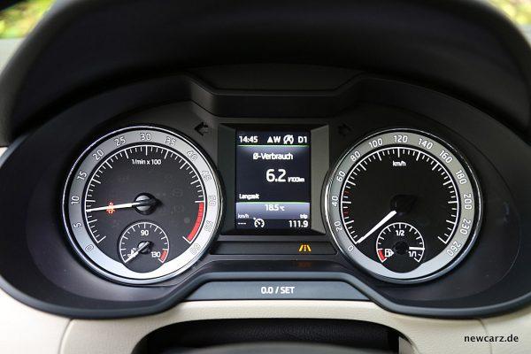 Skoda Octavia Combi Facelift Rundinstrumente