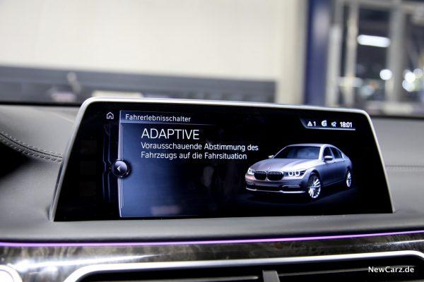 BMW 730d xDrive Fahrprogramm Adaptive