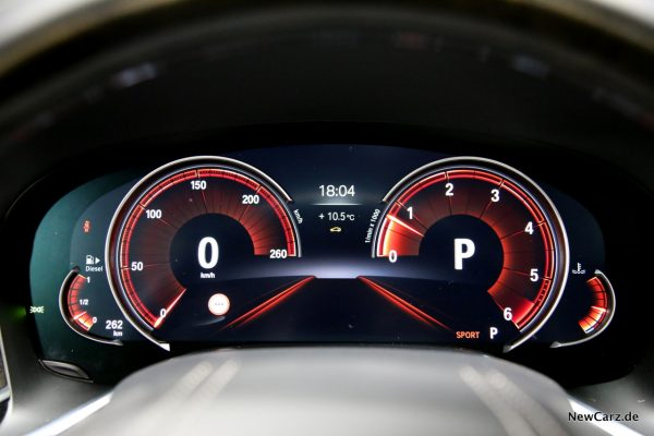 BMW 730d xDrive Sportmodus