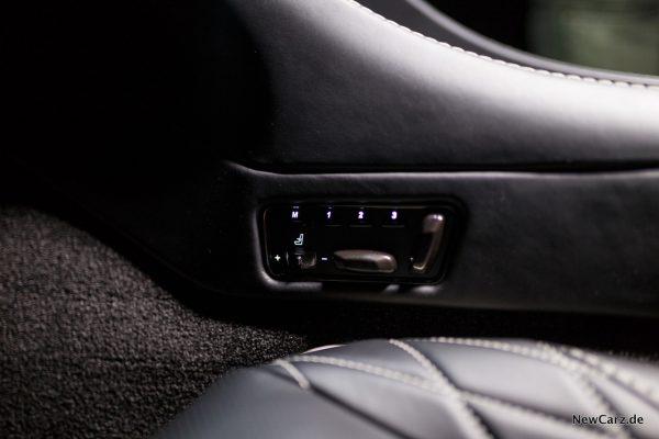 Aston Martin Vanquish S Volante Sitzverstellung