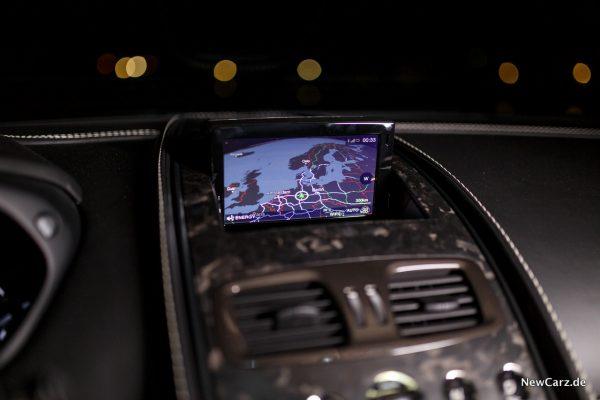 Aston Martin Vanquish S Volante Navigationssystem