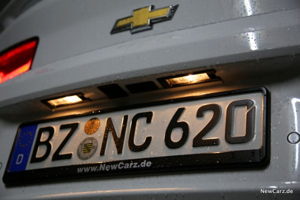 Chevrolet Camaro Cabriolet Kennzeichenbeleuchtung