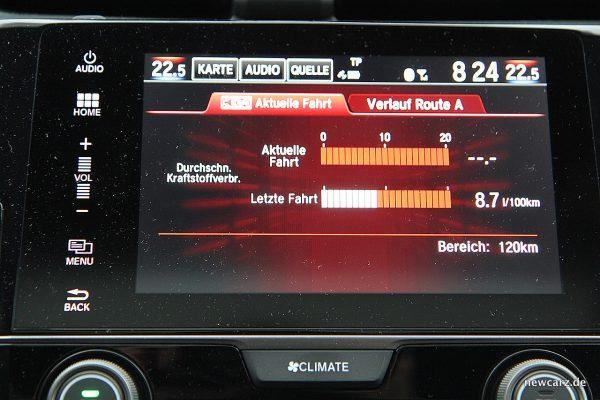 Honda Civic MKX Verbrauchsanzeige