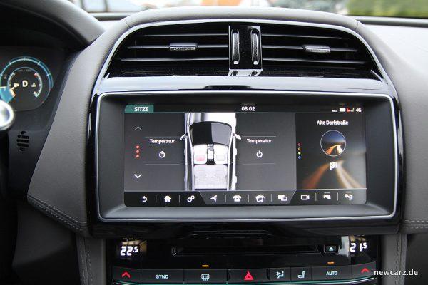 Jaguar F-Pace Sitzheizungsbedienung