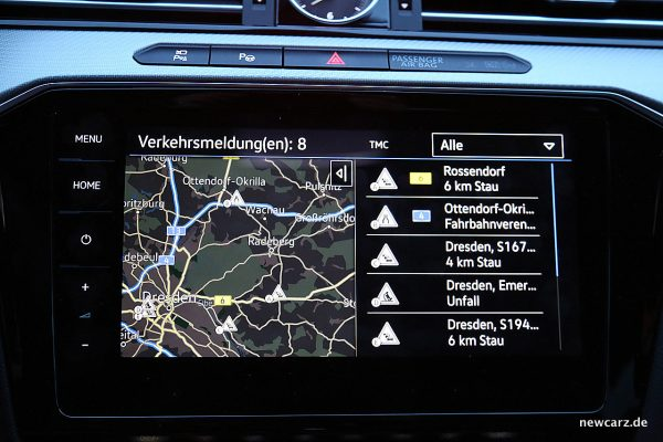 VW Arteon 4Motion Bildschirm