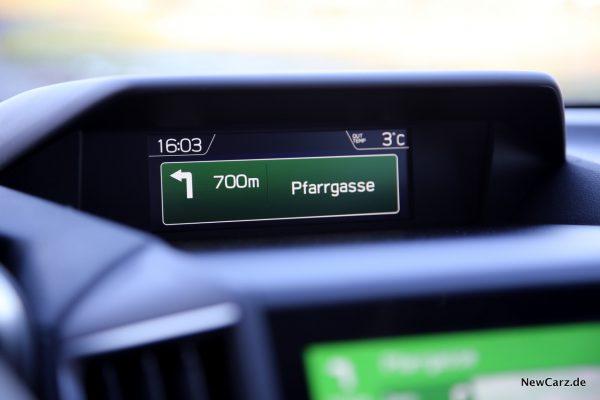 Subaru Impreza Display