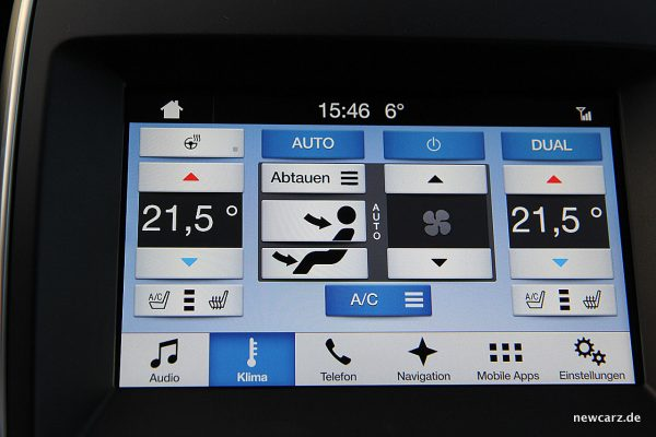 Ford Edge Klimasteuerung