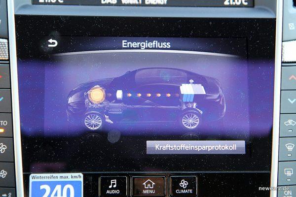 Infiniti Q50S Hybrid Energiefluss