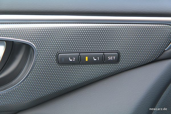 Infiniti Q50S Hybrid Sitzmemory