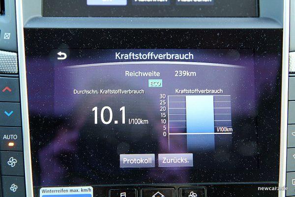 Infiniti Q50S Hybrid Verbrauch