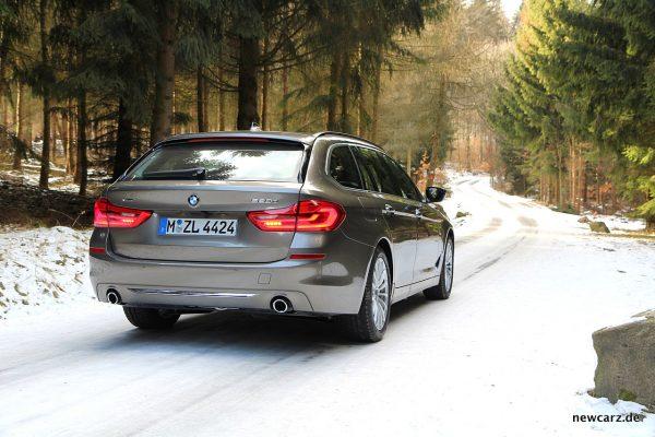 BMW 520d xDrive Touring Heck schräg