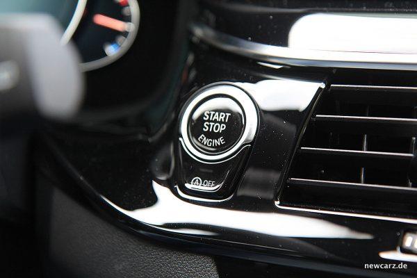 BMW 520d xDrive Touring Startknopf