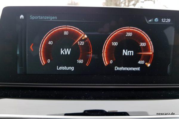 BMW 520d Sportanzeigen