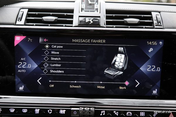 DS7 Crossback Massageprogramme