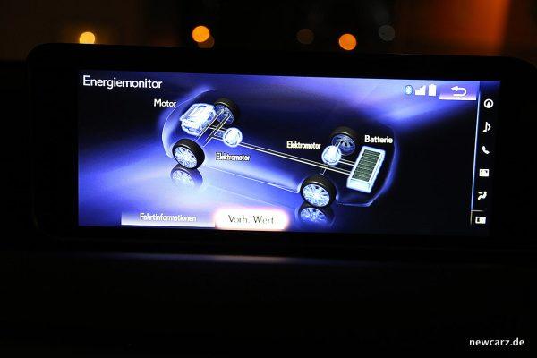 Lexus RX 450h Energiemonitor