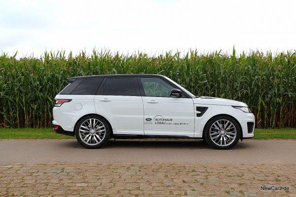 Range Rover Sport SVR Seitenansicht Sportmodus