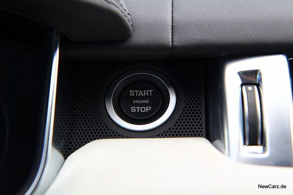 Range Rover Sport SVR Startknopf