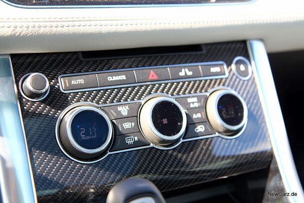 Range Rover Sport SVR Klimaregelung