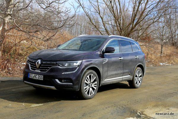 Renault Koleos Dauertest verschmutzt schräg vorn