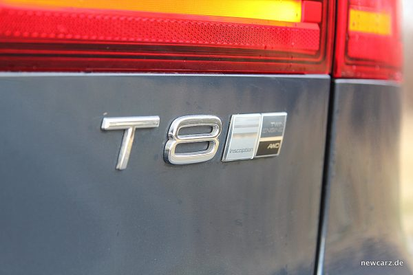 Volvo V90 T8 Twin Engine Typenschild